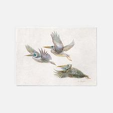 3 pelicans flying 5'x7'Area Rug