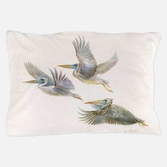 3 Pelicans Flying Pillow Case