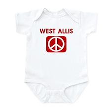 WEST ALLIS for peace Infant Bodysuit