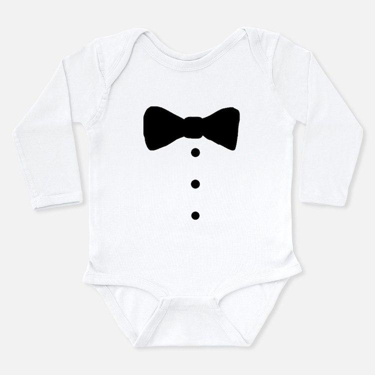 Baby Tux Cartoon Body Suit