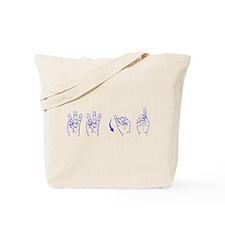 Blue ASL WWJD Tote Bag