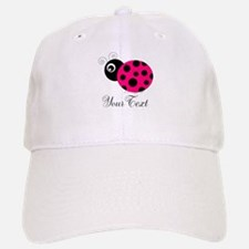 Pesronalizable Pink and Black Ladybug Baseball Baseball Baseball Cap