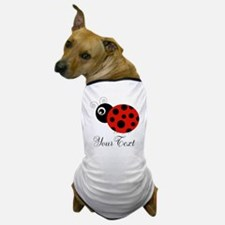 Red and Black Personalizable Ladybug Dog T-Shirt