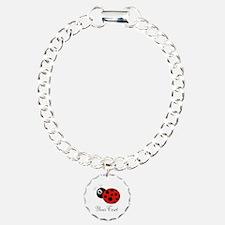 Red and Black Personalizable Ladybug Bracelet