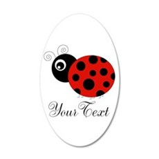 Red and Black Personalizable Ladybug Wall Decal