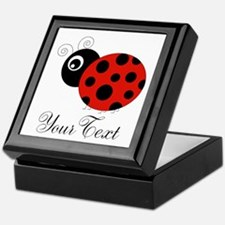Red and Black Personalizable Ladybug Keepsake Box