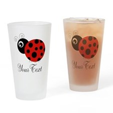 Red and Black Personalizable Ladybug Drinking Glas