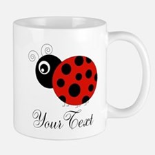 Red and Black Personalizable Ladybug Mugs