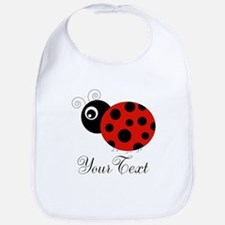 Red and Black Personalizable Ladybug Bib