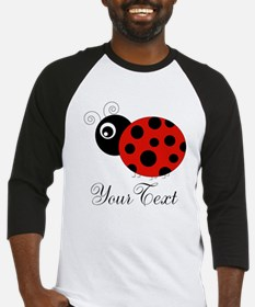 Red and Black Personalizable Ladybug Baseball Jers