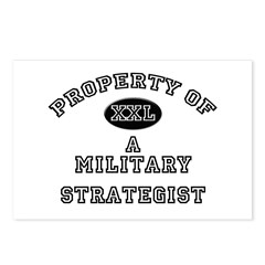 Property of a Military Strategist Postcards (Packa