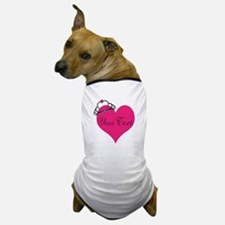 Personalizable Pink Heart with Crown Dog T-Shirt