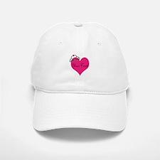Personalizable Pink Heart with Crown Baseball Baseball Baseball Cap
