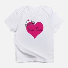 Personalizable Pink Heart with Crown Infant T-Shir