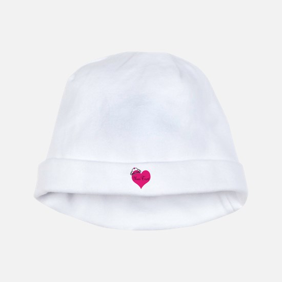 Personalizable Pink Heart with Crown baby hat