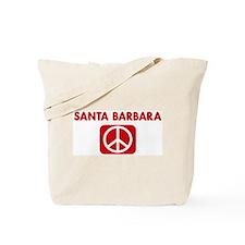 SANTA BARBARA for peace Tote Bag