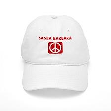 SANTA BARBARA for peace Baseball Cap