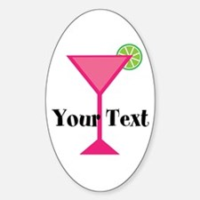 Personalizable Pink Cocktail Decal