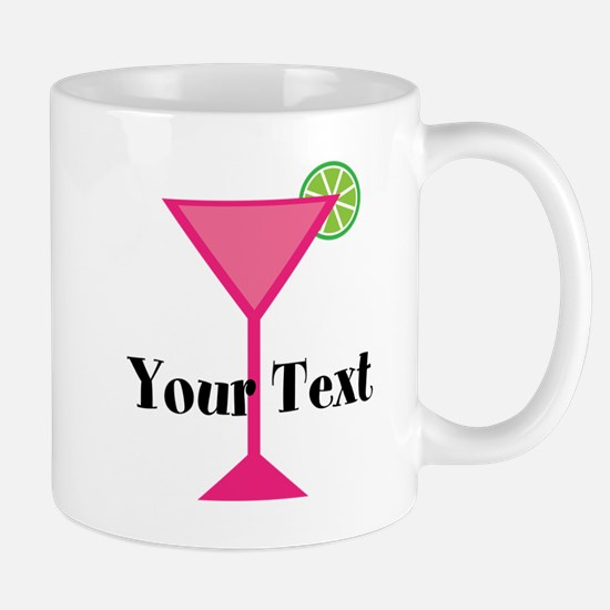 Personalizable Pink Cocktail Mugs