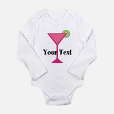 Personalizable Pink Cocktail Body Suit