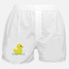 Personalizable Yellow Duck Blue Boxer Shorts