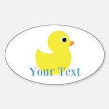 Personalizable Yellow Duck Blue Decal