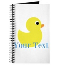 Personalizable Yellow Duck Blue Journal