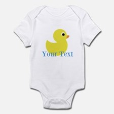 Personalizable Yellow Duck Blue Body Suit