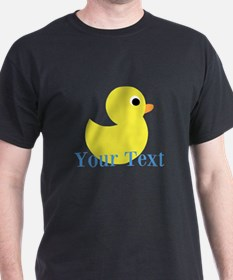 Personalizable Yellow Duck Blue T-Shirt