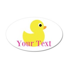 Personalizable Pink Yellow Duck Wall Decal