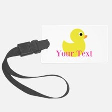 Personalizable Pink Yellow Duck Luggage Tag