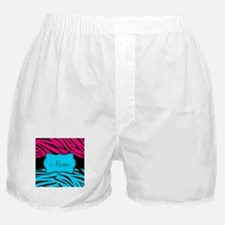 Personalizable Hot Pink and Teal Boxer Shorts