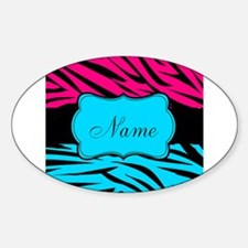 Personalizable Hot Pink and Teal Decal