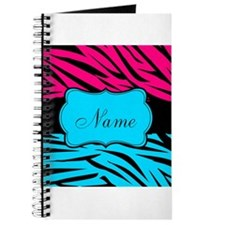 Personalizable Hot Pink and Teal Journal