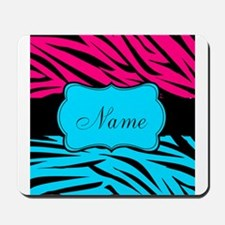 Personalizable Hot Pink and Teal Mousepad