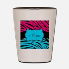 Personalizable Hot Pink and Teal Shot Glass