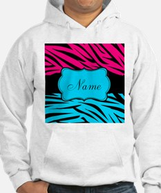 Personalizable Hot Pink and Teal Hoodie