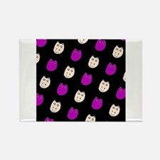 Hippo Ditto Purple Black 4 Mack Magnets