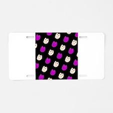 Hippo Ditto Purple Black 4 Aluminum License Plate