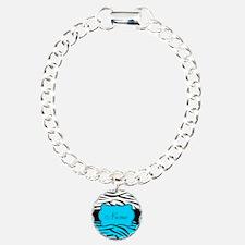 Personalizable Teal and Black Zebra Bracelet