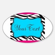 Personalizable Teal Hot Pink Zebra Decal
