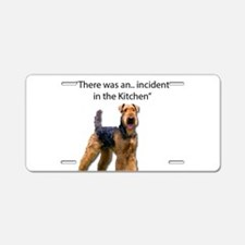 Cute Airedale terrier Aluminum License Plate