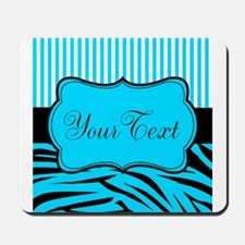 Personalizable Teal Black and White Mousepad