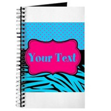 Personalizable Teal Hot pink Journal