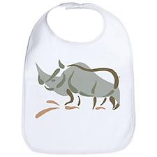 Stylized Rhinoceros Bib