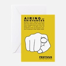 festivus airing of grievances Greeting Cards