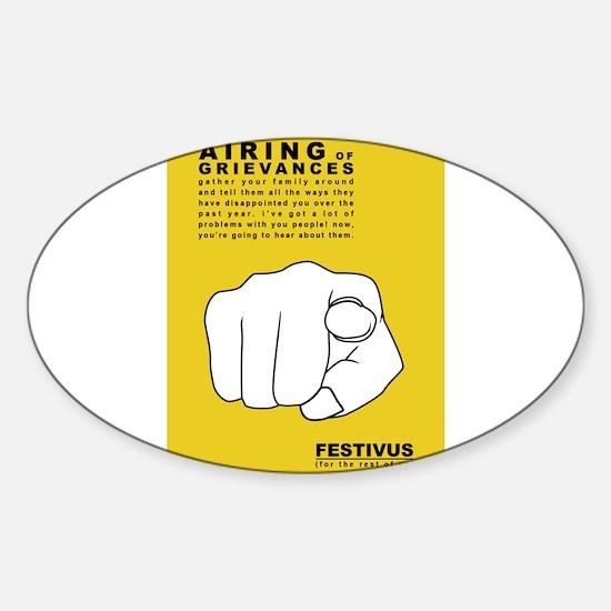 FESTIVUS™ airing of grievances Decal
