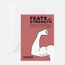 festivus feats of strength Greeting Cards