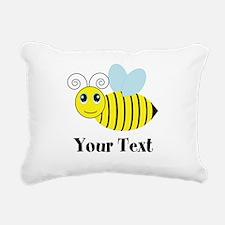 Personalizable Honey Bee Rectangular Canvas Pillow