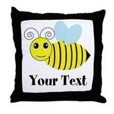 Personalizable Honey Bee Throw Pillow